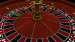 3D Casino Gambling Roulette - stock footage