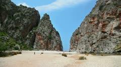 Mountains in Sa Calobra, Mallorca Stock Footage