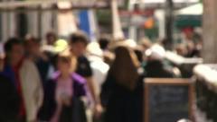 People Walking on busy street Stock Footage