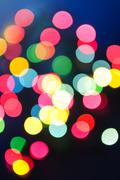 Stock Photo of blurred christmas lights