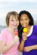 Stock Photo of girls having ice cream