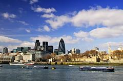 Tower of london skyline Stock Photos