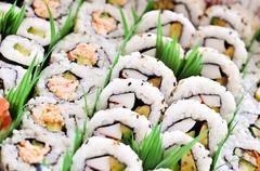 Stock Photo of sushi platter