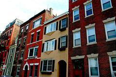 Houses in boston Stock Photos