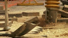 Paving a walkway. Stock Footage