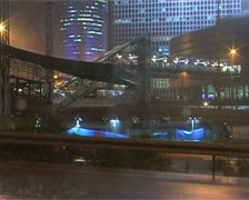 Stock Video Footage of Office building highway night time-lapse. Azrieli.