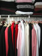 Stock Photo of closet with clothes