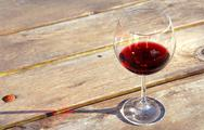 Stock Photo of glass of red wine