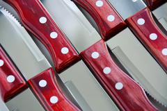 steak knives pattern - stock photo