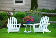 Stock Photo of two lawn chairs