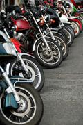 Stock Photo of row of motobikes
