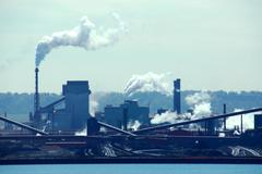 Industrial pollution Stock Photos