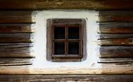 Wooden vintage window Stock Photos