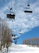 Downhill ski chairlift Stock Photos
