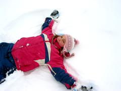 snow angel - stock photo