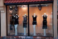 boutique window - stock photo