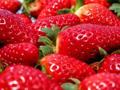 Stock Photo of strawberries macro