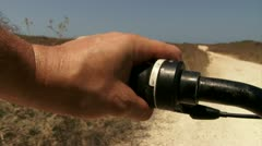 Off road bicycle ride POV Stock Footage