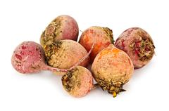 red and golden beets - stock photo