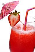 strawberry daiquiri - stock photo