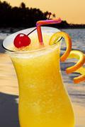 Stock Photo of tropical orange drink