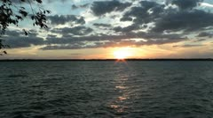 Sunset over Lake Palestine Time Lapse Stock Footage