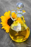 Stock Photo of sunflower oil bottle