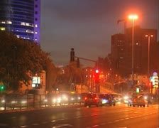 Magic hour city time lapse. Night Stock Footage