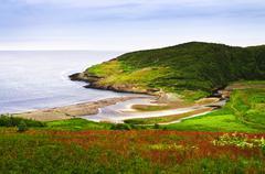 Atlantic coast in newfoundland Stock Photos
