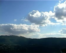 Clouds passing over mountains & valley Time-Lapse - stock footage