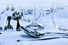 Stock Photo of tableware closeup