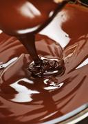 Stock Photo of melted chocolate and spoon