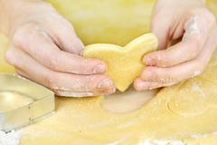Stock Photo of making shortbread cookies