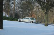 White hearse in the winter Stock Photos