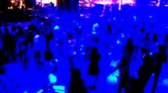 People Dancing at a night club - stock footage