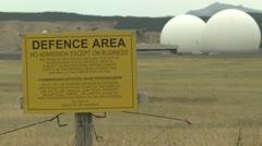 GCSB NSA Waihopai echelon spy station Stock Footage