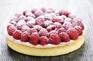 Stock Photo of raspberry tart