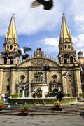 guadalajara cathedral in jalisco, mexico - stock photo