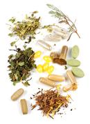 herbal supplement pills - stock photo