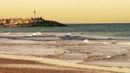 Stock Video Footage of Beach Beacon lighthouse