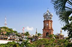 church in puerto vallarta, jalisco, mexico - stock photo