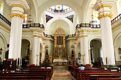 church interior in puerto vallarta, jalisco, mexico - stock photo