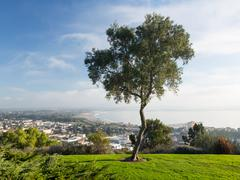panorama of ventura from grant park - stock photo