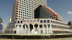 Tel aviv, opera building Stock Footage