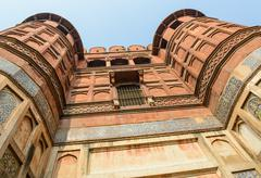 agra fort in india - stock photo