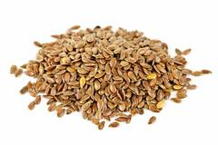 Stock Photo of brown flax seed