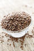 brown flax seed - stock photo