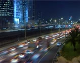 Office building highway traffic Time-Lapse. Loopable. Stock Footage
