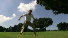Guy Jumping Slow Motion Stock Footage