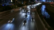 Highway night time-lapse Stock Footage